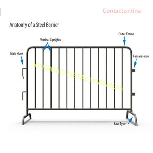 25X2.5m Galvanised Crowd Control Barrier/ Shop Steel Barrier (XM-16) pictures & photos