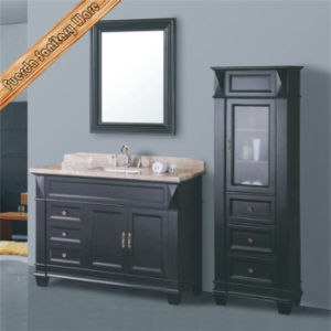 Classical Solid Wood Bathroom Cabinet pictures & photos
