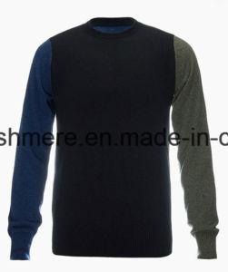 Men′s Crew Neck Fashion Design Top Grade Pure Cashmere Sweater pictures & photos