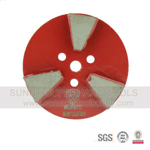 Hook & Loop Diamond Floor Grinding Plate Wheel for Concrete Stone Terrazzo pictures & photos
