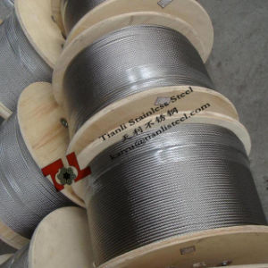 AISI 304 Stainless Steel 7X19 Wire Rope with Dia 3.18mm 3.2mm 1/8 Inch pictures & photos