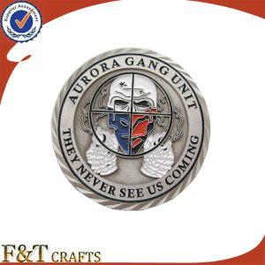Cool Antique Soft Enamel Souvenir Custom Metal Challenge Coin (FTCN001J) pictures & photos