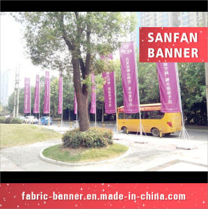 Rectangle Water Injection Flags, Outdoor Woven Flag Fabric