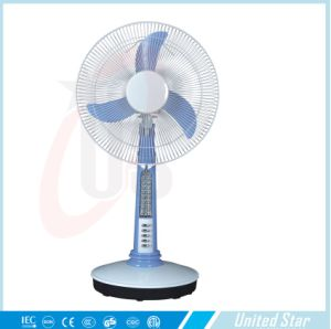 12 Inch DC 12V Table Rechargeable Fan Use Solar or Battery or Adapter pictures & photos