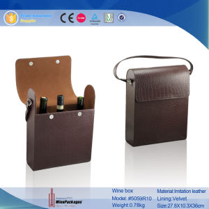 Fashion and Luxury PU Leather Wine Package Set (5900) pictures & photos
