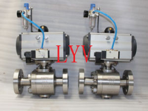 Pneumatic Flanged Stainless Steel Ball Valve pictures & photos