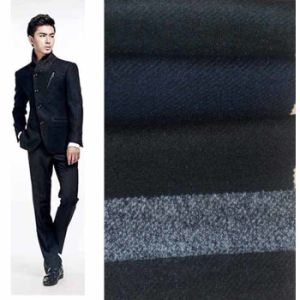 Knitted Twill Wool Blend Fabric for Manswear