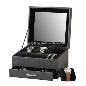 Black Watch Display Case with Jewelry Box Watch Storage Box pictures & photos