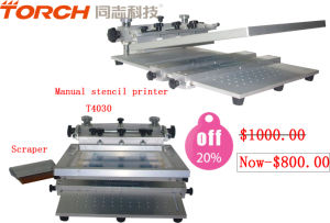 High Cost-Effective PCB Manual Desk Solder Paste Stencil Printer pictures & photos
