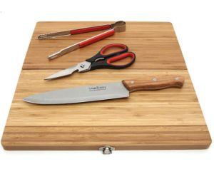 Travel BBQ Tool Set with Bamboo Cutting Board pictures & photos