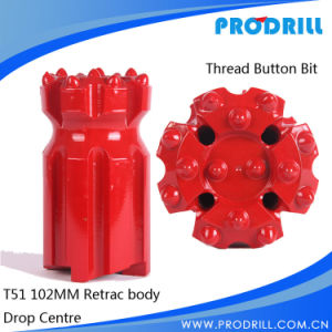 Rock Blasting Hole Thread Drill Bit for T45 Extension Rod pictures & photos