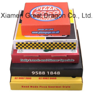 Locking Corners Pizza Box for Stability and Durability (PB160618) pictures & photos