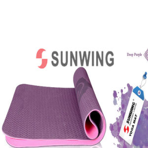 Anti-Fatigue Purple TPE Yoga Mat pictures & photos