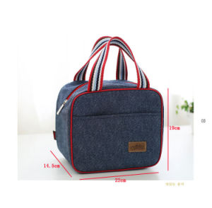 Duarable Popular Jean Short Handle Bag with Label Logo