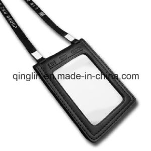 Custom PU Leather ID Card Holder with Lanyard (QL-GZZ-0005) pictures & photos