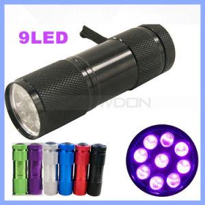 Pet Urine Blood Detector 365-395nm 9 LED UV Flashlight pictures & photos