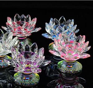 Crystal Lotus Candle Holders Color Base pictures & photos