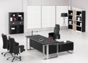 Fashion &Modern PVC/MDF Office Desk (AT019) pictures & photos