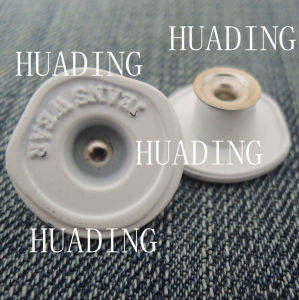 High Sales Fashion White Alloy Shank Button of Garment (HD1121-15) pictures & photos