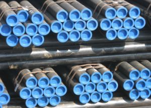 Black ASTM A106 Gr. B Sch40 Seamless Steel Pipe