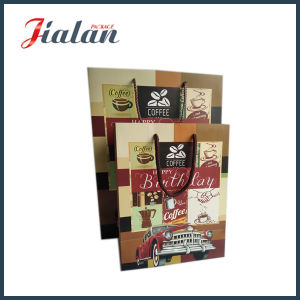Brown Color Full Printed Custom Design Birthday Paper Gift Bag pictures & photos