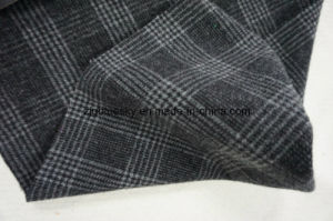 Wool Fabric in Plaid with Black&White pictures & photos