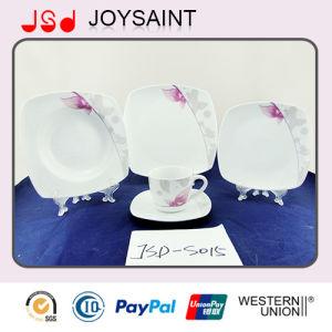 Square Shape Porcerlain Tableware Set, Ceramic Dinnerware Set