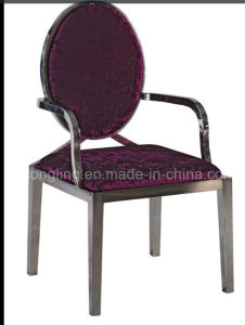 Best Quality Round Black Designs Throne Dining Chair pictures & photos