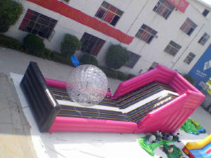 Running Ball Inflatable Slide Large Outdoor Games Zorb Ball Slide (chsp111-3) pictures & photos