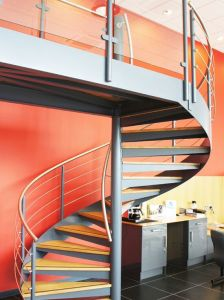 Save Space Used Spiral Stainless Steel Glass Modern Staircase/Stair pictures & photos