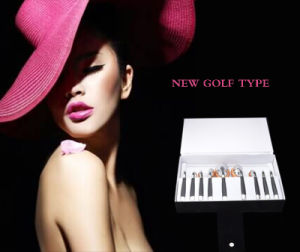 New Arrival 9PCS Toothbrush Shape Golf Style Makeup Brush Set Powder Foundation Brush Siver Oval Cosmetic Makeup Brush