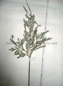 Artificial Snowy Pine Leaves Flower for Christmas and Winter Decoration (SHL15-F502)