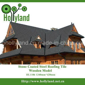 Colored Stone Coated Steel Roof Tile (WoodenType) pictures & photos