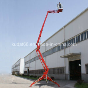 16m Trailer-Mounted Articulating Boom Lift, Diesel or Electric Boom Lift pictures & photos