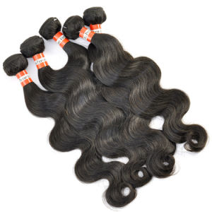 Peruvian Virgin Hair Extensions Body Wave Hair Weft pictures & photos