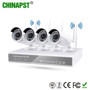 2017 Newest APP Night Vision Bullet IP 4CH WiFi Camera Wireless NVR System (PST-WIPK04CH) pictures & photos