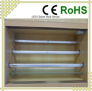Split Motion Sensor LED Closet Rod For Wardrobe Lighting