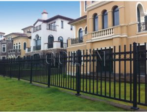 Aluminum Wrought Iron Metal Steel Fence Decorative Backyard Garden Fence pictures & photos