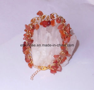 Natural Man Women Gemstone Crystal Beaded Carnelian Jewelry Bracelet Bangle pictures & photos