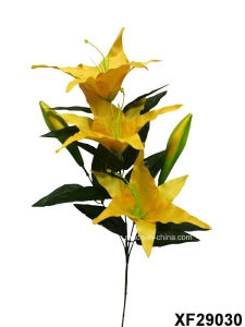 Artificial/Plastic/Silk Flower Single Stem of Tiger Lily with 3 Branches (XF29030) pictures & photos