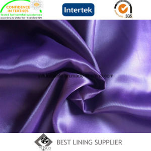 100 Polyester Shiny Soft Satin Solid Lining Fabric Manufacturer pictures & photos