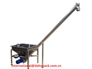 Inclined Screw Conveyor with Hopper pictures & photos