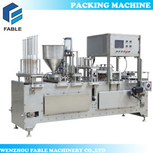 Automatic Rotary Plastic K Cup Yogurt Jelly Water Cup Filling Sealing Machine pictures & photos