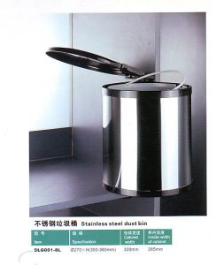 Slg001-8L Kitchen Hardware Stainless Steel Dust Bin pictures & photos