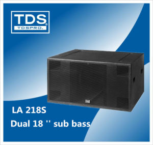 Dual 18 Inch PA Sound Line Array Woofer Equipment with High Power 2400 W Peak (LA218S) pictures & photos