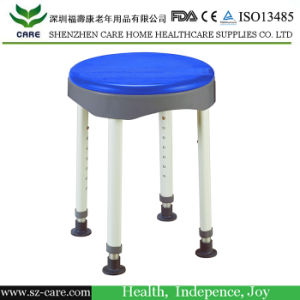 Swivel Plastic Water-Proof Round Shower Chair for Bathroom Safety Equipment pictures & photos