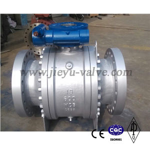 API6d Cast Body Carbon Steel Wcb 3 Pieces Flanged Trunnion Mounted Ball Valve pictures & photos