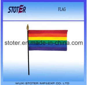 Rainbow Color Mini Hand Flag