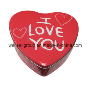 Heart-Shaped Custom Tin Box for Jewellery/Food/Gift/Chocolate/Tea/Candy pictures & photos