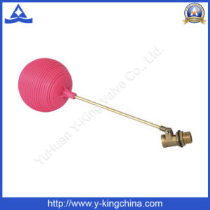 Float Ball Valve with Red Plastic Ball (YD-3015) pictures & photos